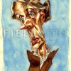 Illustration Caricature de Virginia Woolf