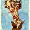 Illustration Caricature de Virginia Woolf