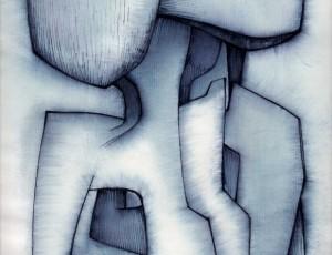 Roger Desserprit – Lavis / Encre sur papier 1971