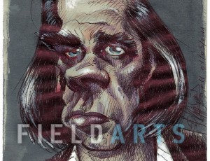 Illustration Caricature de Nick Cave