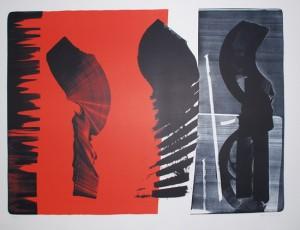 Lithographie de Hans Hartung 1974