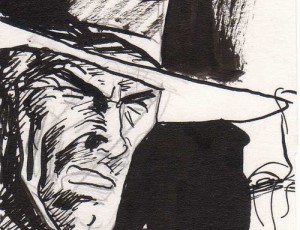 Jordi Bernet – Illustration Clint Eastwood