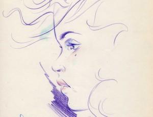 Lax. Portrait au crayon de couleur