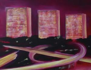 Nadège Druzkowski. Acrylique sur toile