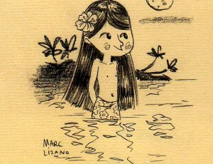 Marc Lizano. Illustration Sirène