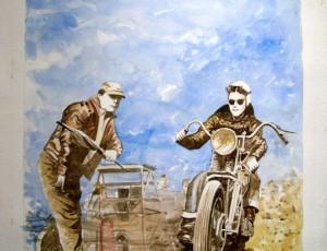 Jean-Marie GUIVARC'H. Départ Harley