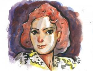 Boris Guilloteau. Portrait à la robe jaune