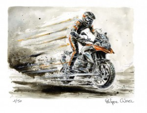 Philippe Gürel.  BMW GS 1200