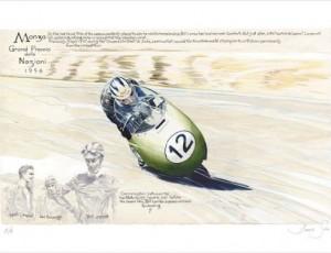 Denis Sire. Monza Grand Premio 1956
