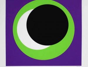 Geneviève Claisse Composition fond violet