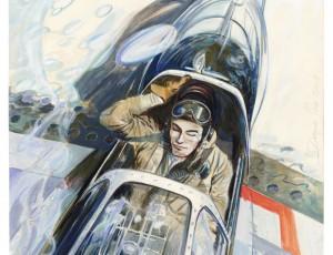 Denis Sire. Buck Danny Mustang Cockpit