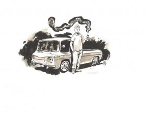 Boris Guilloteau. Bourgogne en Renault 8
