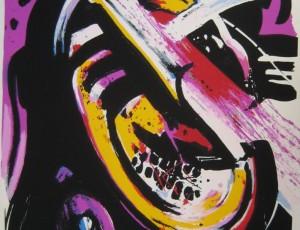 John Christoforou – visage violet