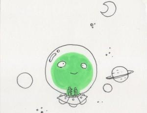 Mickael Roux. Alien Vert