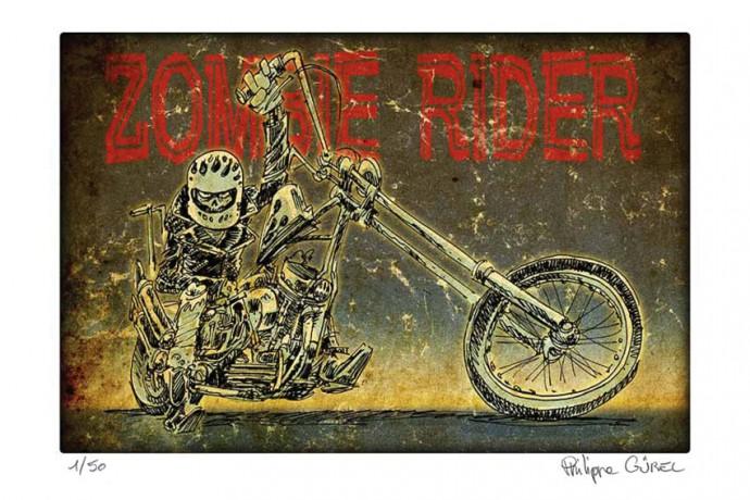 ZOMBIE RIDER_60x40cm